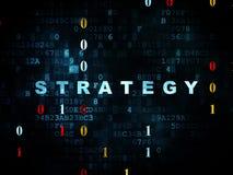Conceito do negócio: Estratégia no fundo de Digitas Imagem de Stock