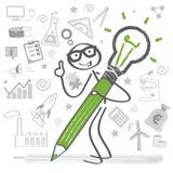 Conceito do negócio, faculdade criadora ilustração stock
