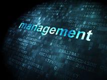 Conceito do negócio: Gestão no fundo digital Fotografia de Stock Royalty Free