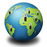 Conceito do negócio global Fotos de Stock