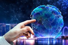 Conceito do negócio global e da comunicação Fotografia de Stock Royalty Free