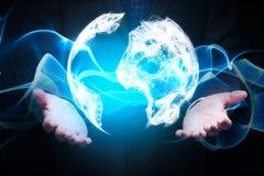 Conceito do negócio global e da comunicação Imagens de Stock Royalty Free