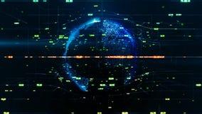 Conceito do negócio global Rede global crescente, uma comunicação global O nascimento e o crescimento de uma rede das conexões ilustração do vetor