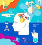 Conceito do negócio Ilustração humana da inteligência Fotografia de Stock Royalty Free