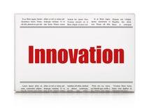 Conceito do negócio: inovação do título de jornal Imagem de Stock Royalty Free