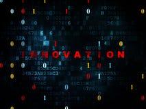 Conceito do negócio: Inovação no fundo de Digitas Fotografia de Stock Royalty Free