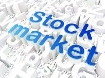 Conceito do negócio: Mercado de valores de ação no alfabeto Fotografia de Stock
