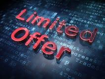 Conceito do negócio: Oferta limitada vermelha no fundo digital Foto de Stock Royalty Free