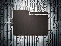 Conceito do negócio: placa de circuito com dobrador Imagem de Stock