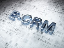 Conceito do negócio: Prata E-CRM em digital Imagem de Stock Royalty Free