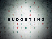 Conceito do negócio: Realização do orçamento no papel de Digitas Fotografia de Stock Royalty Free