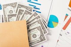 Conceito do negócio, relatório da análise do gráfico de negócio Contabilidade, dinheiro, cor de tom Fotografia de Stock