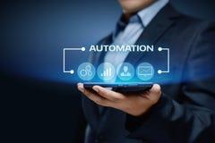 Conceito do negócio do sistema do processo da tecnologia de software da automatização fotografia de stock