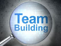 Conceito do negócio: Team Building com vidro ótico Imagens de Stock