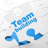 Conceito do negócio: Team Building no fundo do enigma Fotografia de Stock Royalty Free