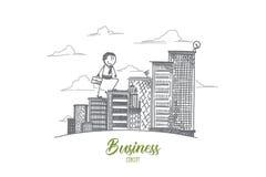 Conceito do negócio Vetor isolado tirado mão ilustração royalty free