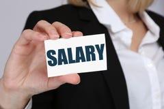 Conceito do negócio da finança do dinheiro dos salários da negociação do aumento salarial Imagens de Stock