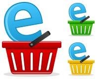Conceito do negócio do comércio electrónico Foto de Stock