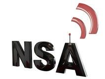 Conceito 1 do NSA 3D Imagem de Stock