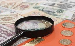 Conceito do Numismatics Foto de Stock