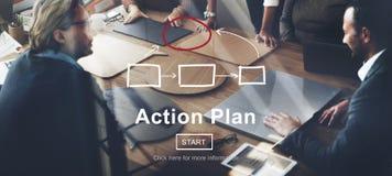 Conceito do objetivo das táticas da visão da estratégia do planeamento do plano de ação Imagem de Stock