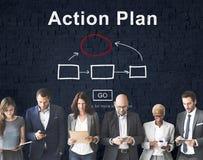 Conceito do objetivo das táticas da visão da estratégia do planeamento do plano de ação Imagem de Stock Royalty Free