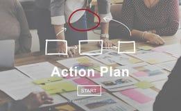 Conceito do objetivo das táticas da visão da estratégia do planeamento do plano de ação Fotos de Stock Royalty Free