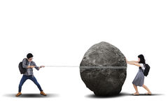 Conceito do obstáculo da educação Imagens de Stock