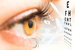 Conceito do oftalmologista fotografia de stock royalty free