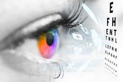 Conceito do oftalmologista imagem de stock