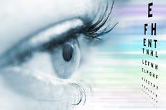 Conceito do oftalmologista imagens de stock royalty free
