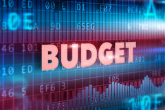 Conceito do orçamento Foto de Stock