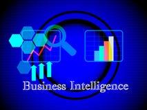Conceito do painel da inteligência empresarial Fotos de Stock Royalty Free