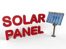 Conceito do painel solar ilustração stock