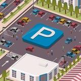 Conceito do parque de estacionamento Foto de Stock