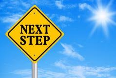 Conceito do passo seguinte Fotografia de Stock