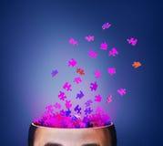 Conceito do pensamento brainstorm ilustração stock