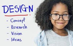 Conceito do pensamento criativo do projeto do desenvolvimento da inspiração Foto de Stock
