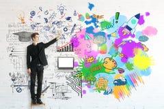 Conceito do pensamento criativo e analítico foto de stock