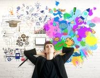 Conceito do pensamento criativo e analítico fotografia de stock royalty free