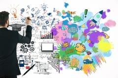 Conceito do pensamento criativo e analítico foto de stock royalty free