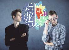 Conceito do pensamento criativo e analítico imagens de stock