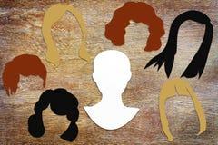 Conceito do penteado fêmea diferente Fotos de Stock
