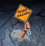 Conceito do perigo da estrada ilustração stock
