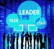 Conceito do pessoal de Leadership Manager Task do líder imagens de stock
