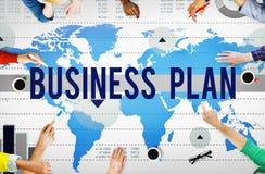 Conceito do planeamento de mercado da estratégia do plano de negócios Foto de Stock