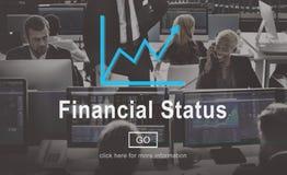 Conceito do planeamento do débito do crédito de orçamento da situação financeira imagem de stock