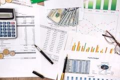 conceito do planeamento e da economia próprios orçamento Foto de Stock Royalty Free