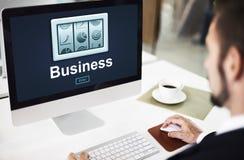 Conceito do planeamento empresarial do mercado da estratégia imagens de stock