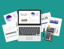 conceito do planeamento empresarial e do investimento empresarial Fotos de Stock